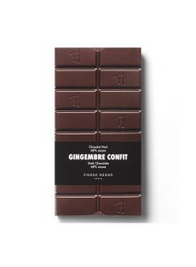 TABLETTE DE CHOCOLAT NOIR PLANTATION MILLOT ET GINGEMBRE CONFIT