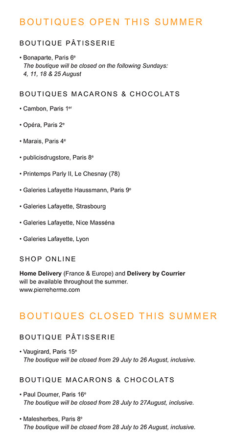 BOUTIQUES OPENED THIS SUMMER